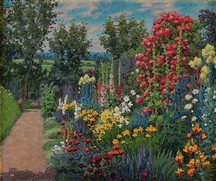 An herbaceous border, landscap