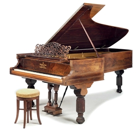 A STEINWAY & SONS ROSEWOOD-CAS