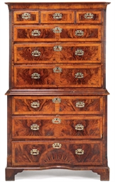 A GEORGE I WALNUT SECRETAIRE T