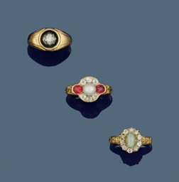 Three 19th century rings
