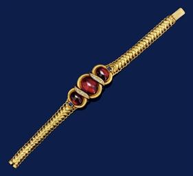 A 19th century gold, garnet, d