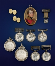 A group of medals, miniatures,