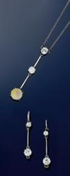 A diamond and opal pendant nec