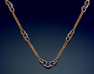 An 18ct. gold necklace, by Kut