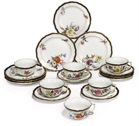 A MEISSEN PART TEA-SERVICE