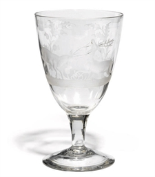 AN ENGRAVED AND DATED GOBLET