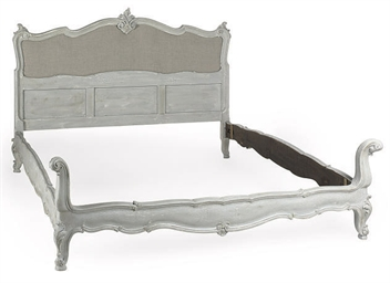 A FRENCH CARVED AND GREY-PAINT