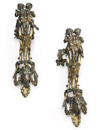 A PAIR OF FRENCH SILVERED AND