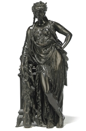 A FRENCH BRONZE MODEL OF 'OMPH