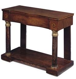 AN ITALIAN MAHOGANY AND INLAID
