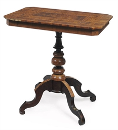 AN ITALIAN MARQUETRY TABLE