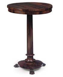 AN EARLY VICTORIAN ROSEWOOD TA