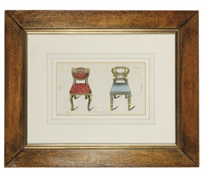 TWO HAND-COLOURED ENGRAVINGS O