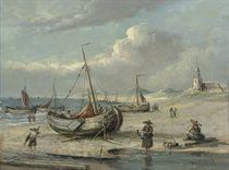 A fishing village on the Dutch coast; and Unloading the catch