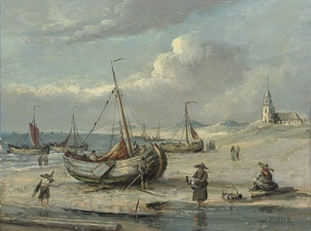 A fishing village on the Dutch