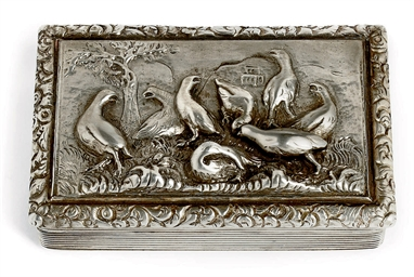 A WILLIAM IV SILVER SNUFF BOX