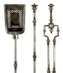 A SET OF THREE REGENCY STEEL F
