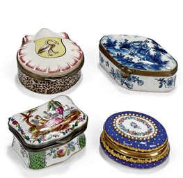 FOUR ENAMEL OR EARTHENWARE SNU