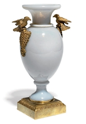 A GILT-METAL-MOUNTED OPALINE G