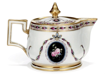 A NYMPHENBURG TEAPOT AND COVER