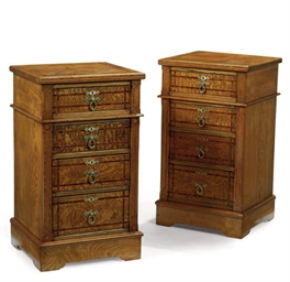 A PAIR OF VICTORIAN ASH AND IN