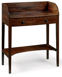 A GEORGE III MAHOGANY AND LINE