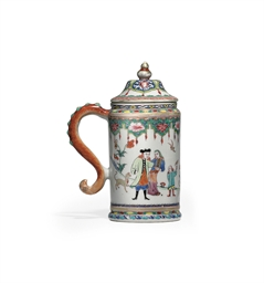 A EUROPEAN SUBJECT TANKARD AND