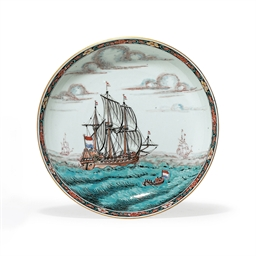 A DUTCH-DECORATED SHIPPING SAU