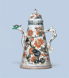 A LARGE CHINESE IMARI COFFEE P