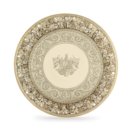 A GEORGE III SILVER-GILT TAZZA