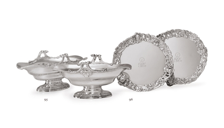 A PAIR OF GEORGE III SILVER DO
