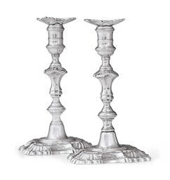 A PAIR OF GEORGE II SILVER TAP