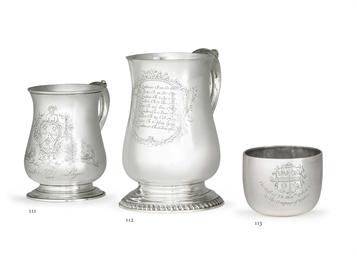 A GEORGE II SILVER TUMBLER CUP