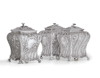 A SET OF THREE GEORGE II SILVE