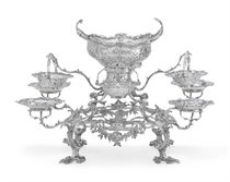 A GEORGE III SILVER EIGHT-BRANCH EPERGNE