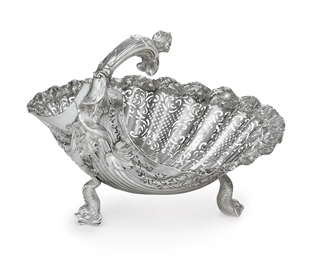 A GEORGE II SILVER SHELL-FORM