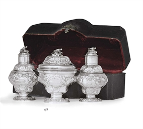 A GEORGE II SILVER TEA CADDY S