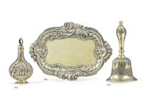 A GEORGE II SILVER-GILT SMALL TRAY