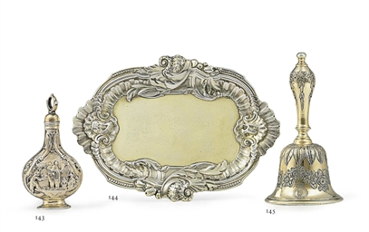 A GEORGE II SILVER-GILT TABLE