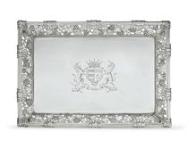 A GEORGE II SILVER WAITER FROM THE WARRINGTON PLATE