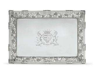 A GEORGE II SILVER WAITER FROM