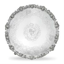 A GEORGE II LARGE SILVER SALVER