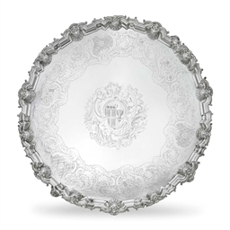 A GEORGE II LARGE SILVER SALVE