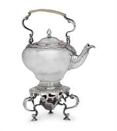 A GEORGE III TOY SILVER TEA KE