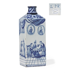 A DUTCH DELFT BOTTLE