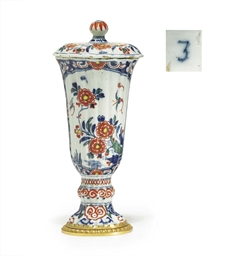 AN ORMOLU-MOUNTED DUTCH DELFT
