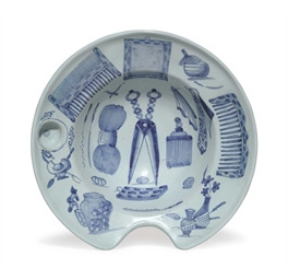 A DELFT BARBER'S BOWL (SCHEERB