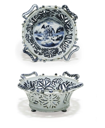 AN ENGLISH DELFT DATED PIERCED