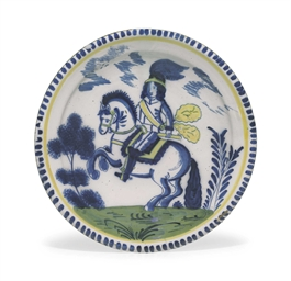 AN ENGLISH DELFT EQUESTRIAN CH
