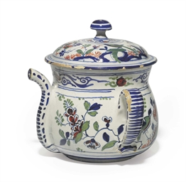 AN ENGLISH DELFT POSSET-POT AN